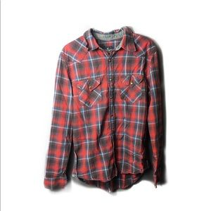 American Eagle Slim Fit Plaid Shirt
